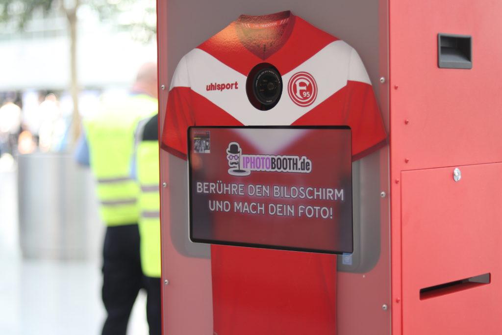 Fortuna Düsseldorf Fotobox mieten gebrandet Photobooth