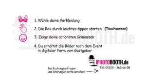 Startbildschirm Startscreen Fotobox Branding iphotobooth