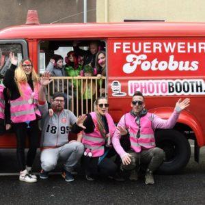 Hildener Karnevalszug 2019 - Fotobus und mobile Fotobox auf Segway